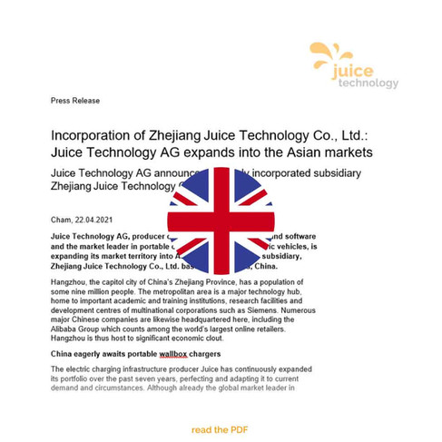 Juice Technology AG expands into the Asian markets