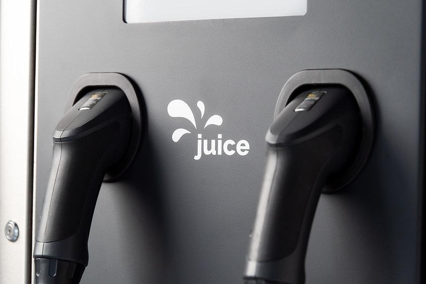 Juice Hub Public Elektroautoladesäule mit Typ 2 Stecker
