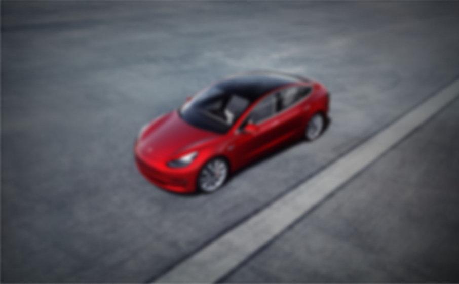 Tesla Model 3 in rot