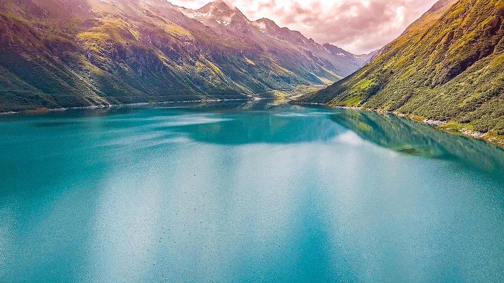 See mit Gebirge