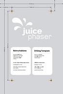 Obtenga una descripción general con la ficha del producto de JUICE PHASER y sírvase de la plantilla de taladrado proporcionada para instalarlo.