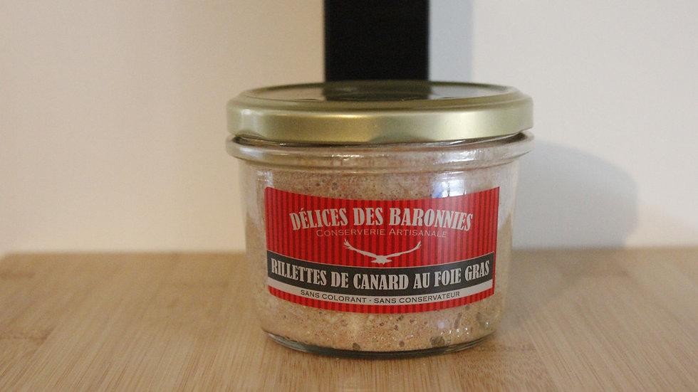 Rillettes de canard au foie gras 180g