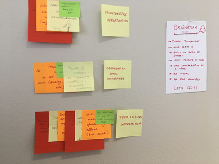 GROUP AND FINALIZE IDEAS