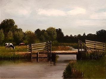 Landschap met koeien en brug-3.jpg