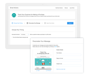 Email automations for an online store.