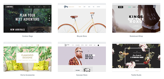 Wix eCommerce website templates.