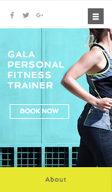Gezondheid en wellness website templates – Personal trainer