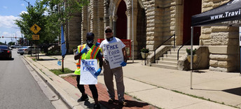 Veterans Food Pantry Volunteers - Fatai & Mike June 2020