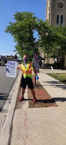 Volunteer at the Veterans Food Pantry June 2020