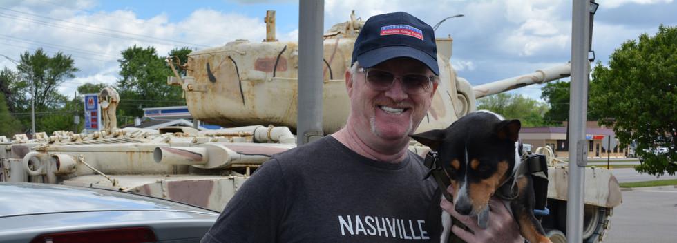 Patrick & Ziggy - Homeless Veteran and his service dog 5/30/20