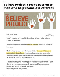 The Believe Project Award