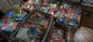 Prepped Bags for the homeless Veterans