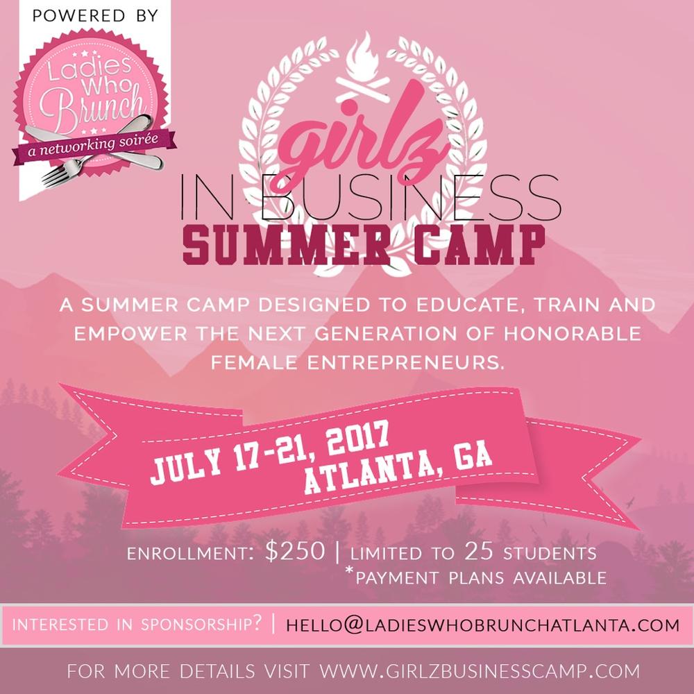 Ladies Who Brunch ATL: Girlz Business Camp 2017