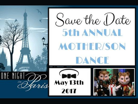 5th Annual Mother Son Dance Is Coming