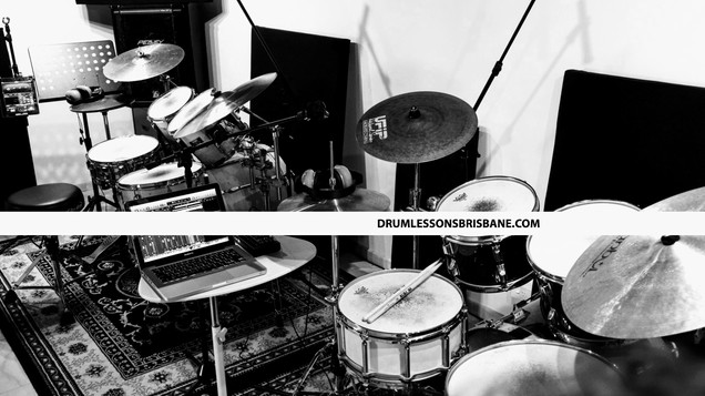 Drum Lessons Brisbane Banner BW.jpg