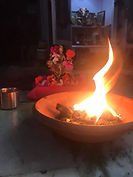 Puja to Durga flame burning bright.jpg