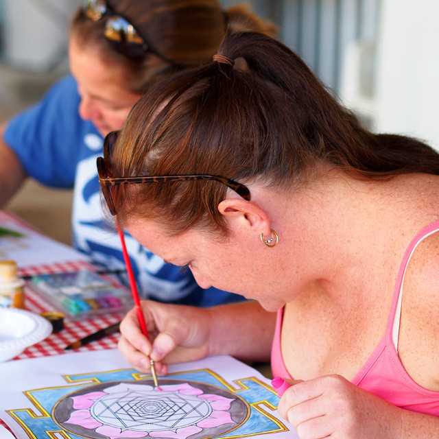 Dominque painting her yantra fb ready