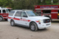Fire Rescue staff vehicle SUV