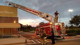 ladder fire truck