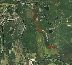 satellite view of Southeast 182nd Avenue Road