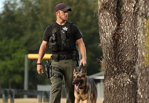 SWAT K9 and handler
