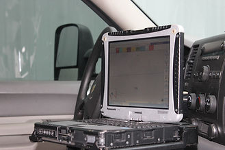toughbook mounted in vehicle