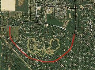 satellite view of Marion Oaks Boulevard