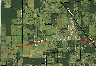 satellite view of County Road 326