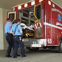 ambulance with paramedics