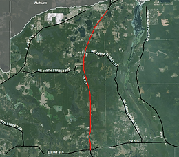 satellite view of Northeast Highway 315