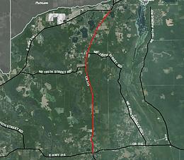 satellite view of Northeast Highway 315