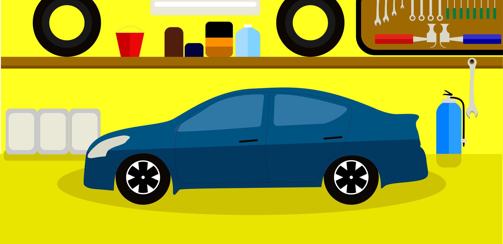 Garage banner for website