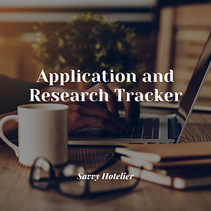 Application & Research Tracker