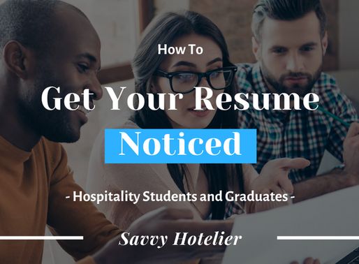 Hospitality CV: What to Improve | Student Resume Tips & Template