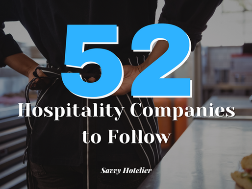 52 Hospitality Companies to Follow in 2021