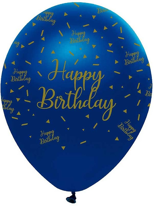 Navy & Gold 6pk Balloons