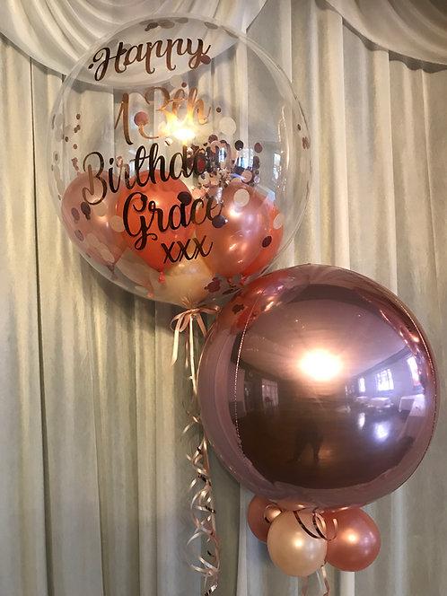 Confetti Bubble + Rose Gold Orbz