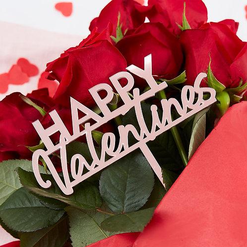 Happy Valentines Flower Bouquet Decoration