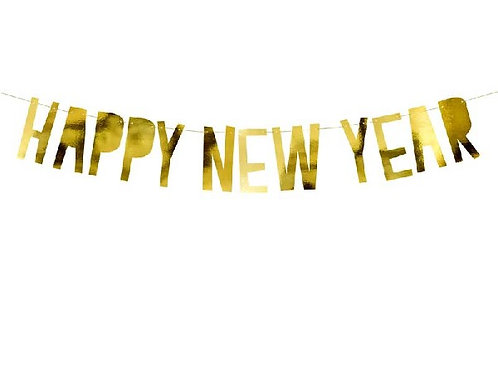 Gold Happy New Year Banner