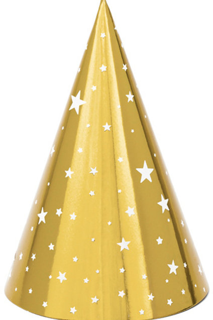 Gold Cone Party Hat