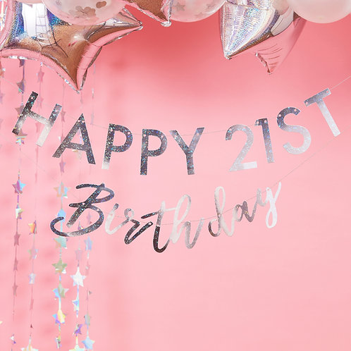 Iridescent Personalised Birthday Bunting