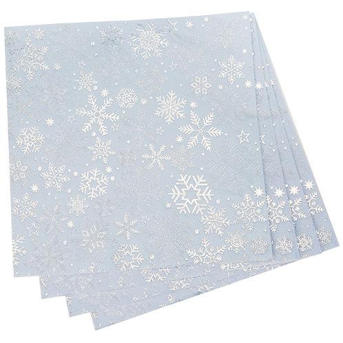 Iridescent Snowflake Paper Napkins