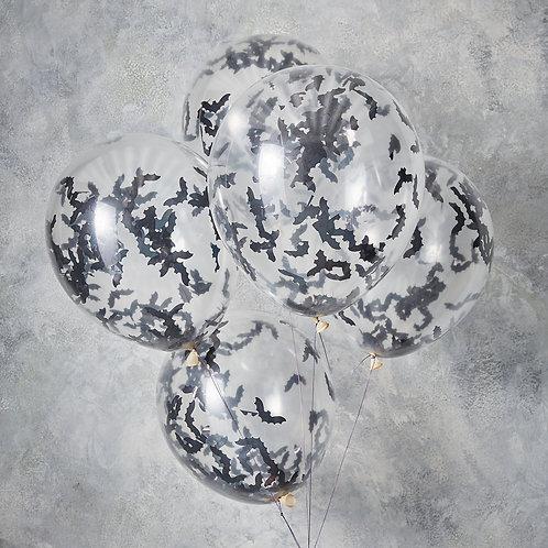 Bat Confetti Balloons
