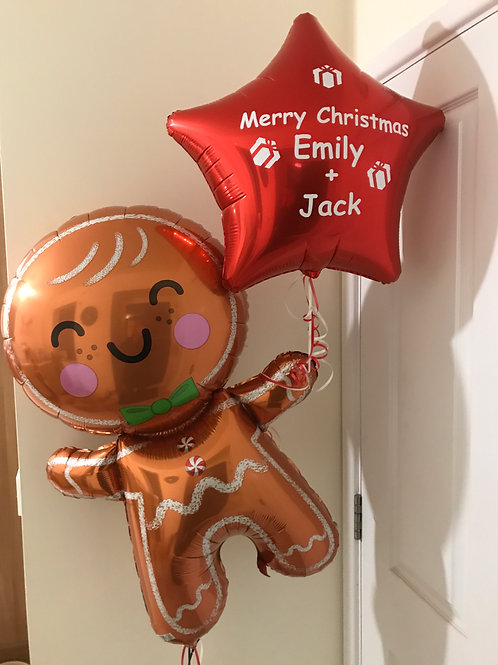 Personalised Ginger Bread Man Balloon