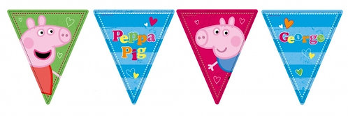 Peppa Pig Flag Birthday Party Banner