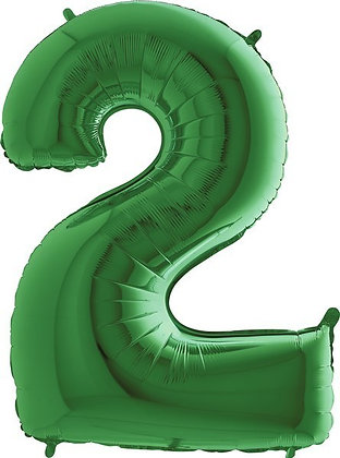 Green Big Number Balloons