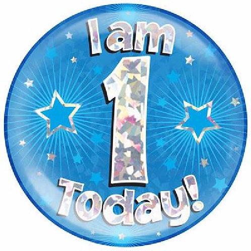 Blue Jumbo Birthday Badges Ages 1-15