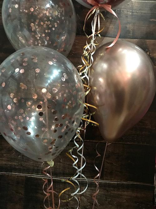 Rose Gold Confetti Latex Display