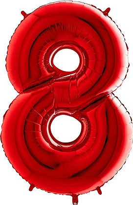 Red Big Number Balloons