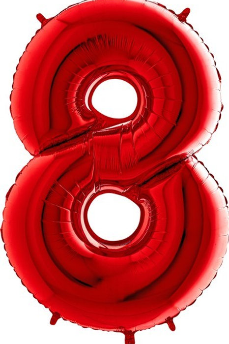 Big Number Balloons in Red